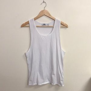 White Muscle Tank Top